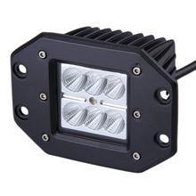 2 шт. 18 Вт светодиодный рабочий свет заподлицо дальнего света внедорожный супер освещение яркий Фокусируемый луч для Jeep SUV ATV UTV УАЗ автомобильный Стайлинг