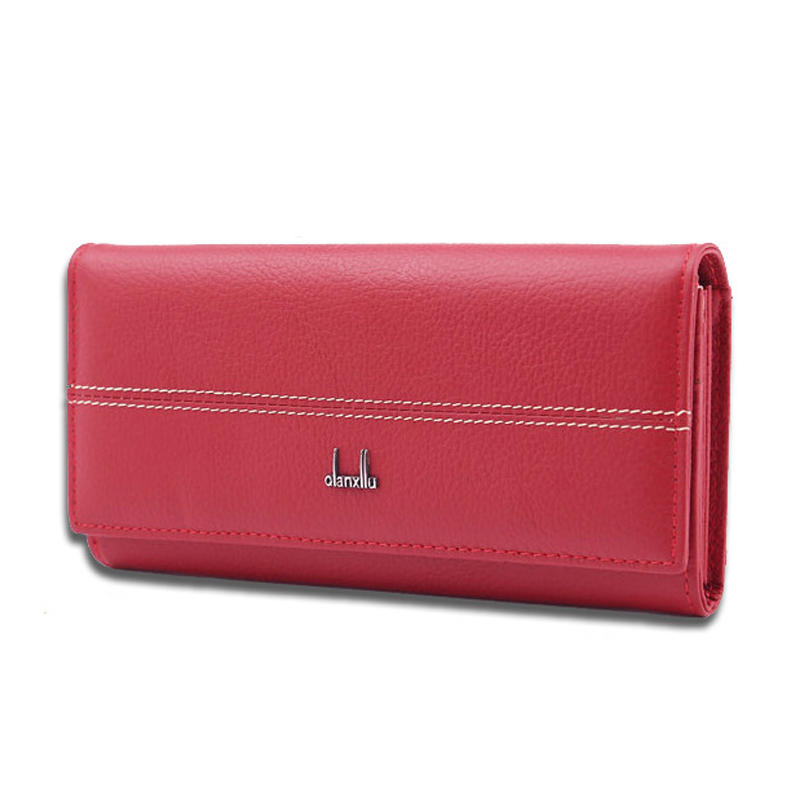 Genuine Leather Wallet Women purse High Capacity Long Wallet Female Long Design Purse Women Coin Purses Lady Clutch Card Holder high quality floral wallet women long design lady hasp clutch wallet genuine leather female card holder wallets coin purse