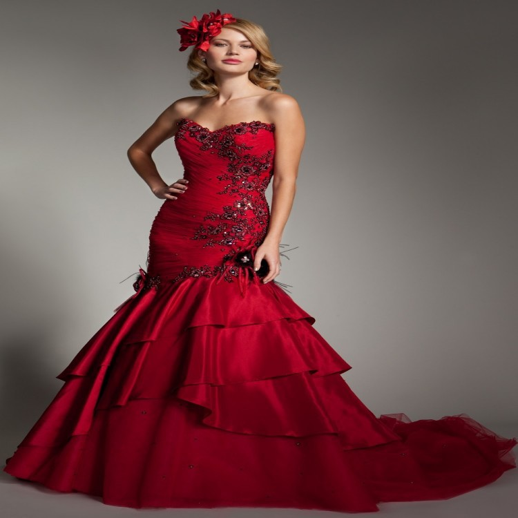 Red Plus Size Wedding Dresses Wedding Dresses Wedding Ideas And