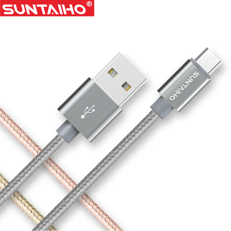 Micro USB Cable,Suntaiho 5V2.4A Nylon Braided Fast Charging s