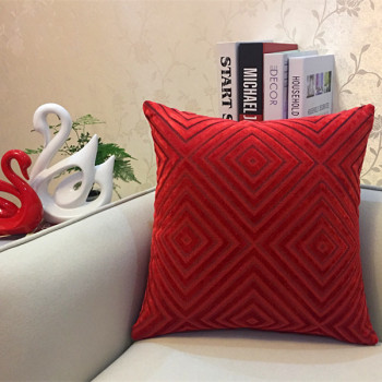 Red Diamond corduroy Throw Pillow 5