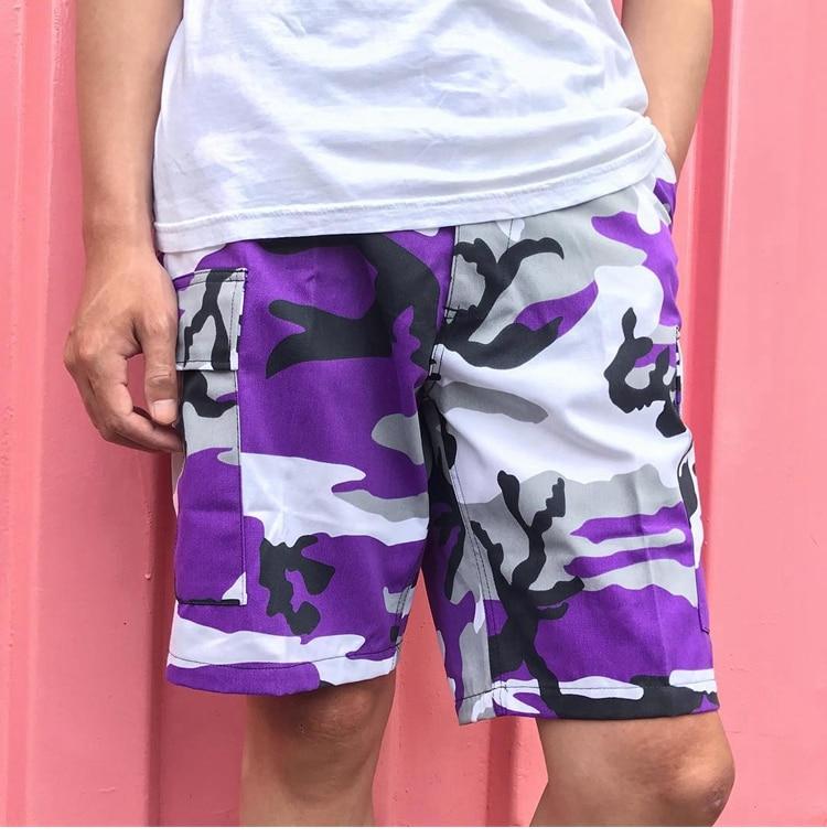 Hip Hop kanye west OVERSIZE Pantalones cortos de camuflaje Hombres - Ropa de hombre