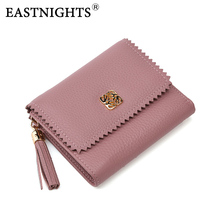 EASTNIGHTS New Leather Women Short Wallets Ladies Fashion Small Wallet Coin Purse Female Card Purses TW2641
