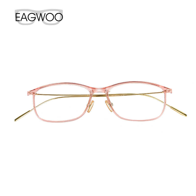 Metal Alloy Eyeglasses Full Rim Optical Frame Prescription Spectacle Slim Wire Temple Super light Pink Blue Window 1313