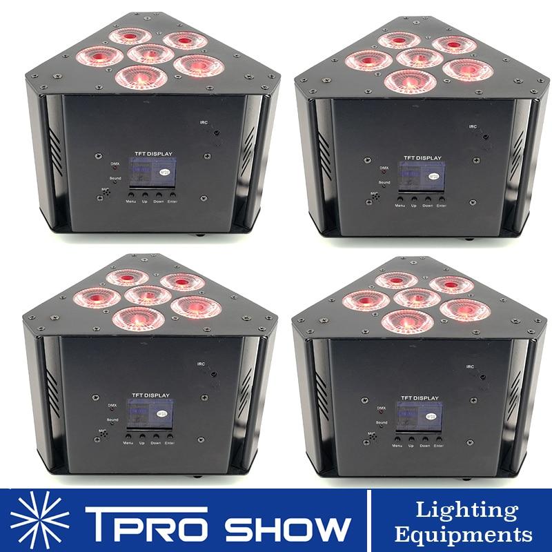 4Pcs Par LED Dmx Wireless Stage Light RGBWA UV LED Wash Battery LED Par Light Equipment DJ Stand Truss Wedding Uplighting PAR