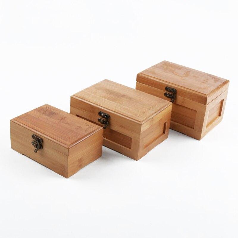 € 8.98 6% de réduction Vintage bijoux boîte de rangement bambou  organisateur Case boîtes de rangement bijoux boîte ménage rangement cadeau  boîte ...
