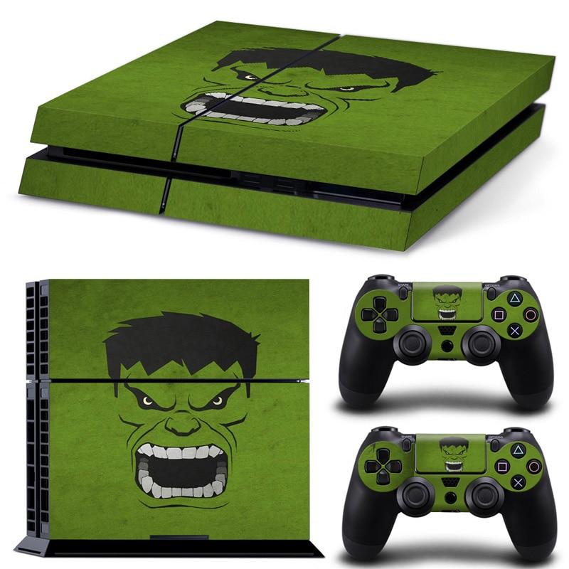 Наклейка скинов Hulk Design для консоли Playstation 4