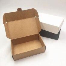 15 шт. двухразмерная Крафтовая упаковочная бумага, подарочная упаковочная коробка для конфет/ювелирных изделий/торта/печенья, товары для св...