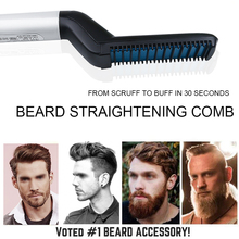 Quick Beard Straightener Comb Multifunctional Hair Curler Straightening Permed Clip Comb Styler Electric Hair Tool Comb for Men