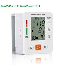 Cuidados de saúde novo tensiometro digital pressão arterial monitor de pulso tonômetro automático esfigmomanômetro bp medidor de pressão arterial
