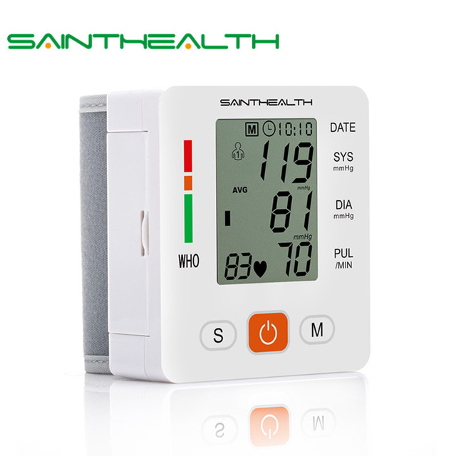 Gesundheit Pflege neue tensiometro digitale Blutdruck Monitor Handgelenk tonometer Automatische Blutdruckmessgerät BP Blut Druck Meter