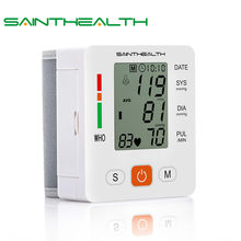 Health Care new tensiometro digital Blood Pressure Monitor Wrist tonometer Automatic Sphygmomanometer BP Blood Pressure Meter(China)
