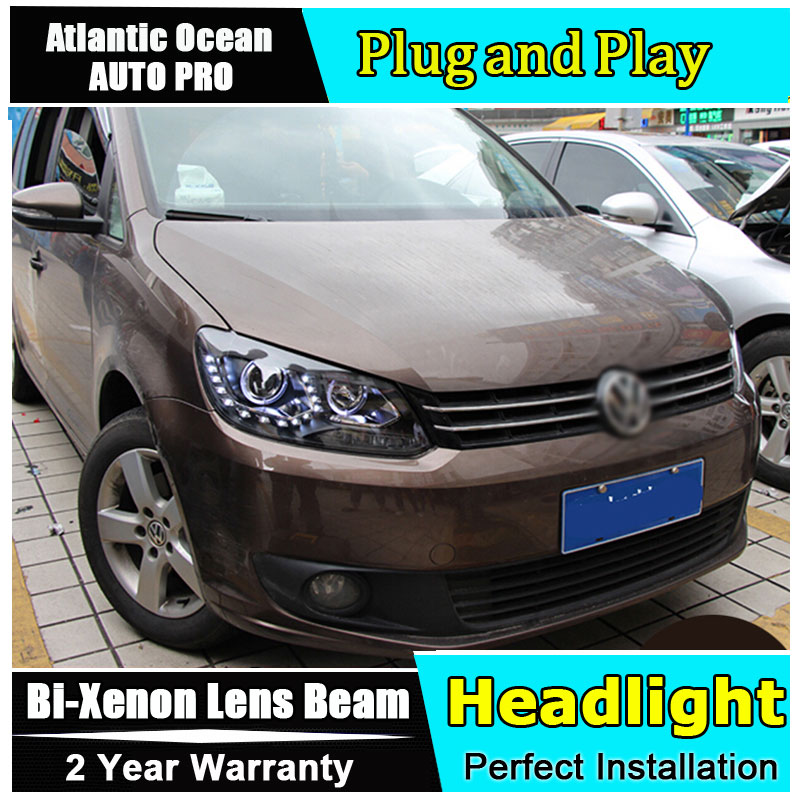 Auto Lighting Style Head Lamp for VW Touran led headlights 2011-2014 Volkswagen Touran led drl HID KIT Bi-Xenon Lens low beam hireno headlamp for 2016 hyundai elantra headlight assembly led drl angel lens double beam hid xenon 2pcs