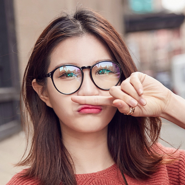 cd2636348ea 2018 cheap Optical lens Spectacle Frame women s Cat Eye Eyeglasses male Anti -fatigue Computer Reading Glasses Eyewear Goggles