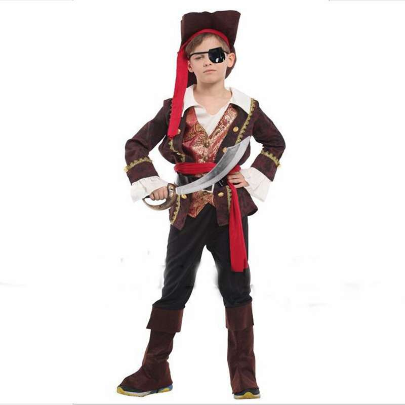 halloween costumes childrens costumes performance clothing the one eyed pirate captain prince sailor cosplay - Sailors Halloween Costumes