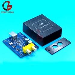 Módulo de decodificación de Audio SA9227 + PCM5102A 32BIT 384 kHz DAC HIFI asíncrono DC 5 V con carcasa para Mac OS Windows