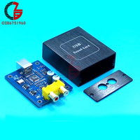 SA9227 PCM5102A 32BIT 384KHZ DAC HIFI Asynchronous Decoder Board Audio Decoding Module DC 5V With Case