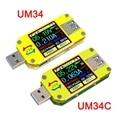 RD UM34 UM34C USB 3,0 тестер с ЖК-дисплеем измеритель напряжения тока тестер Ампер Type-C