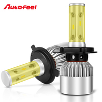Autofeel Led H4 H7 H1 Car Headlight Bulb Color Changeable Led Light 9005 9006 9004 9007