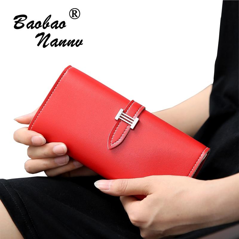 2019 Fashion Wallets Women Luxury Long Wallets Lady PU Leather Belt Purse Card Holders Clutch Money Bag for Carteira Feminina