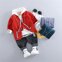 hot deal buy zwxlhh 2019 spring new baby boys girls clothing sets toddler infant clothes suits coat t shirt pants children kids casual suit