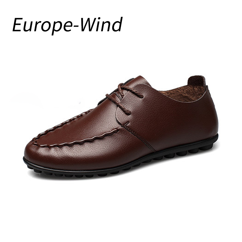 EuropeWind 2018 Fashion New Men Loafers Casual Driving Shoes Leather Genuine Loafers Man Shoes Luxury Flats Shoes Mens Moccasin mens s casual shoes genuine leather mens loafers for men comfort spring autumn 2017 new fashion man flat shoe breathable