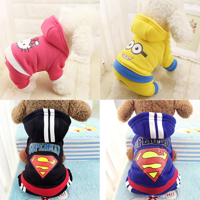 Winter Warm Pet Dog Clothes Four-legs Hoodie Small Dog Sweaters Coats Cotton Puppy Clothing Outfit for Chihuahua XS-2XL 5