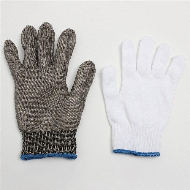 Прочная Безопасность Порезов Stab Устойчив Нержавеющей Стали Металлических Сеток Мясник Перчатки облегающие И Удобно Носить