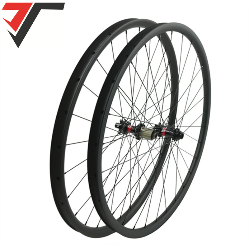 TRIPS super light carbon wheels 29er mtb wheelset 30mm asymmetric XC mountain bicycle wheels straight pull