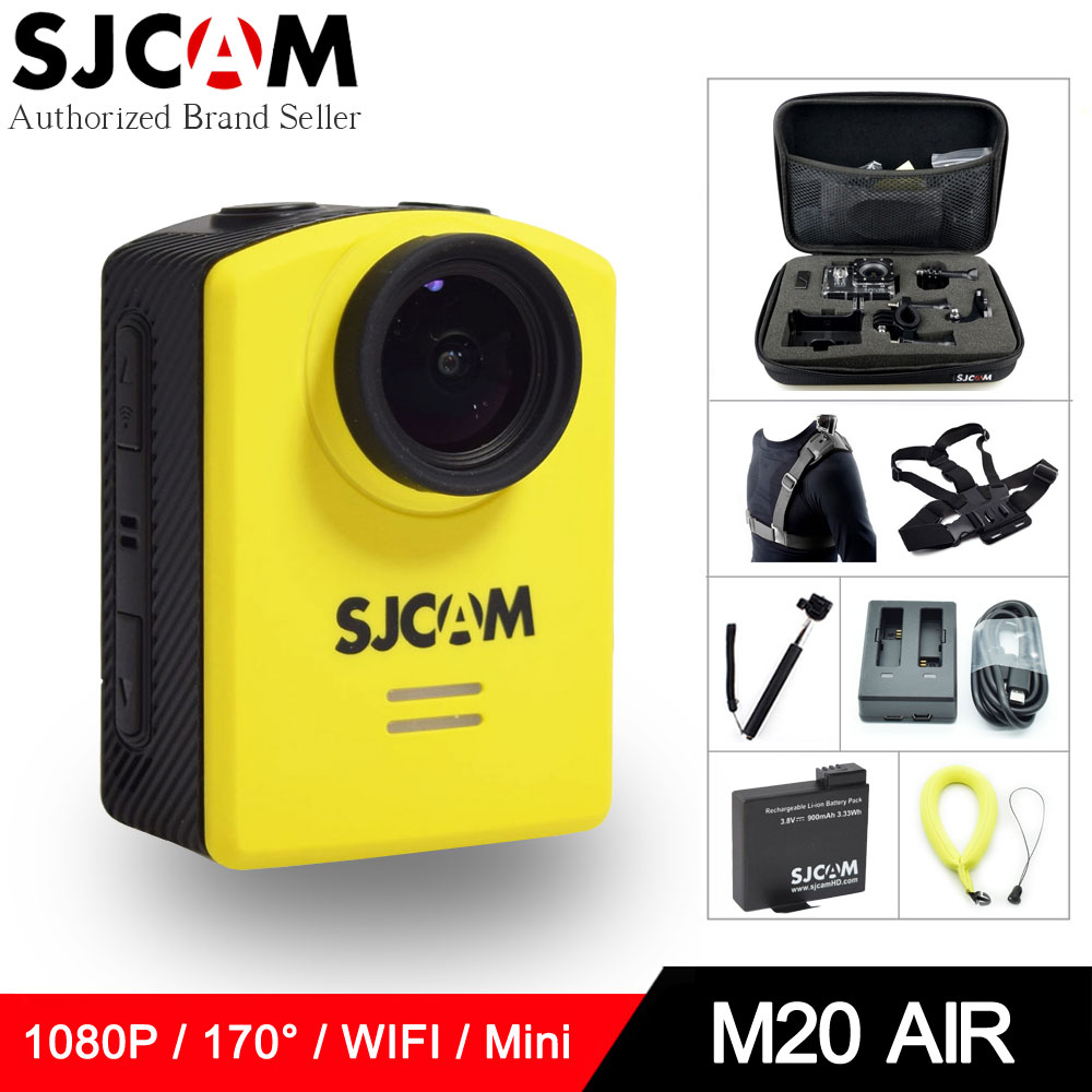 Original SJCAM M20 AIR 1080P Full HD WIFI Action Camera 1.5 Screen Mini Helmet Waterproof Sports DV Camera 170 Wide Angle sjcam m10 1 5 lcd 2 3 cmos 12mp 1080p wide angle sports camera w tf mini hdmi red black