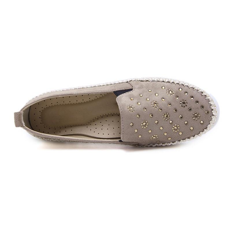 Apricot Taille Sur Bout Pour Des Mocassins Rond gris Grande Glissement Dames Chaussures A486 Casual Femmes Appartements De noir ZqRdEx