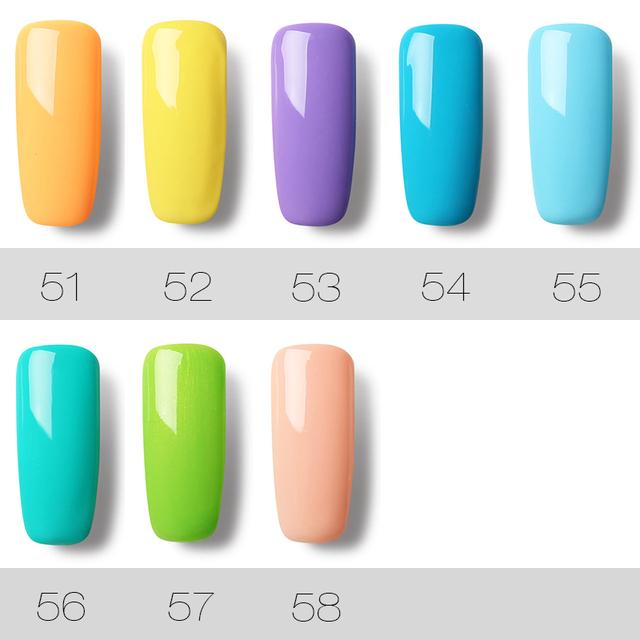 ROSALIND Gel Varnish Nail Gel Polish 7ml UV Nails Art Semi Permanent Hybrid Gellak Set For Nail Manicure Soak off Top White Gel