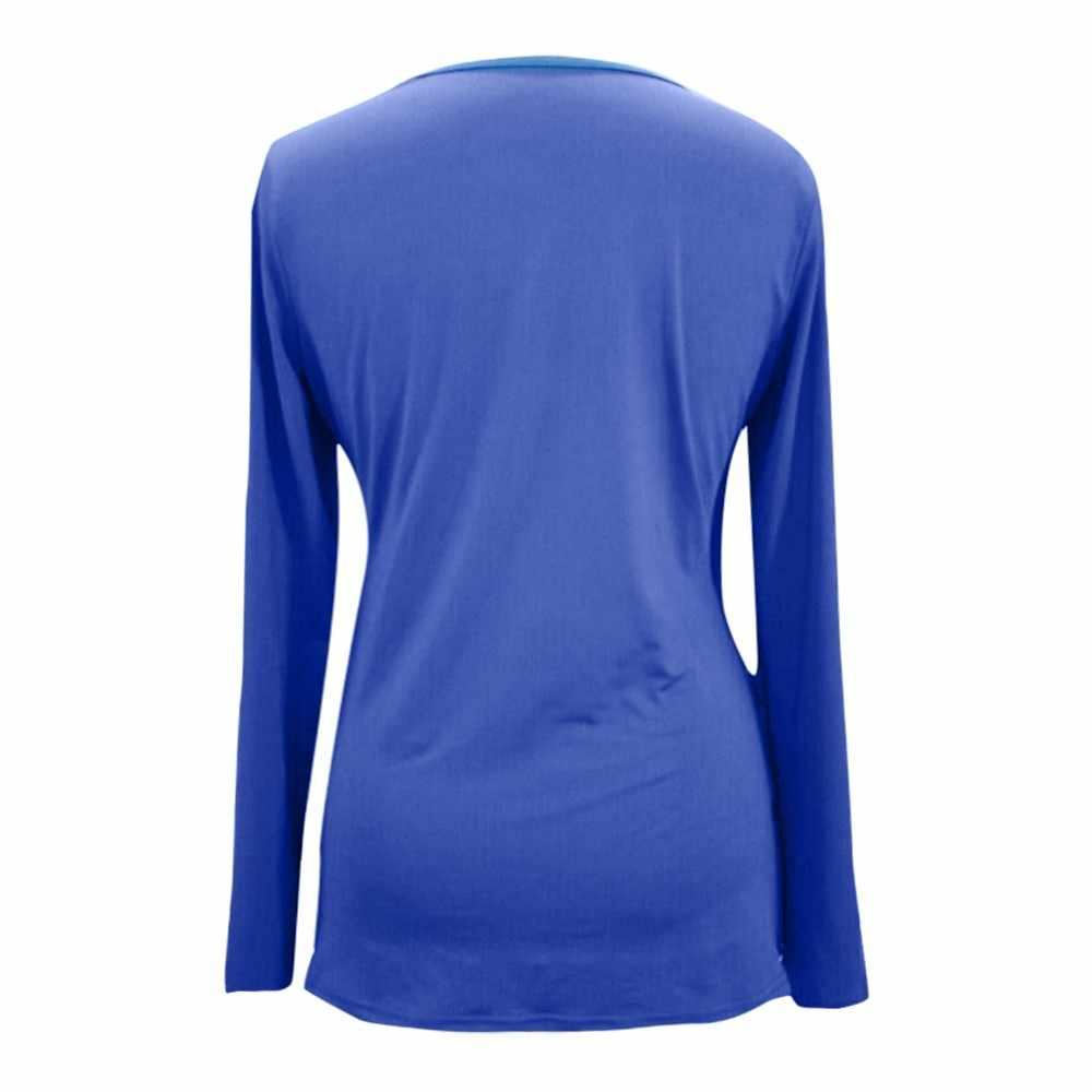 cd7cb1d6994 ... MUQGEW winter Women Mom Pregnant Nursing Baby Maternity Long Sleeved  Solid Tops Blouse Clothes Functional Nursing