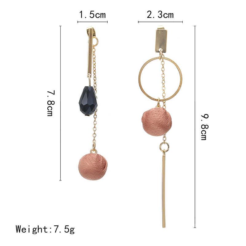 Brincos de Pingente de ouro Figura Geométrica Brincos Da Forma Lrregular Vento Boêmio Jóia Do Casamento 2019
