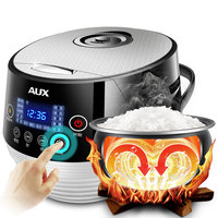 220V AUX Intelligent 4L Electric Rice Cooker Full automatic LED Touch Screen Multifunctional Heating Rice Cooker
