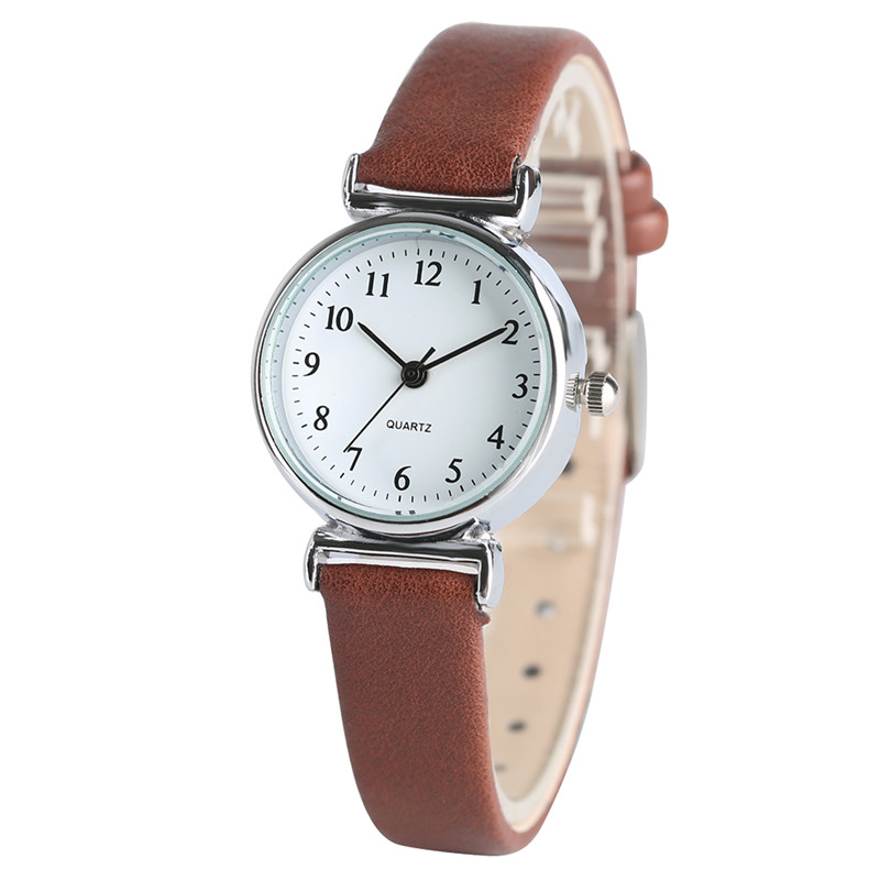 4 Colors Leather Strap Wristwatch Ladies Elegant Simple Watches 2017 New Fashion Lovely Quartz Women's Bracelet Watch Girl Gift hot sale 4 colors fashion ladies dress quartz wristwatch crystal dial leather bracelet elegant stylish women watches best gift