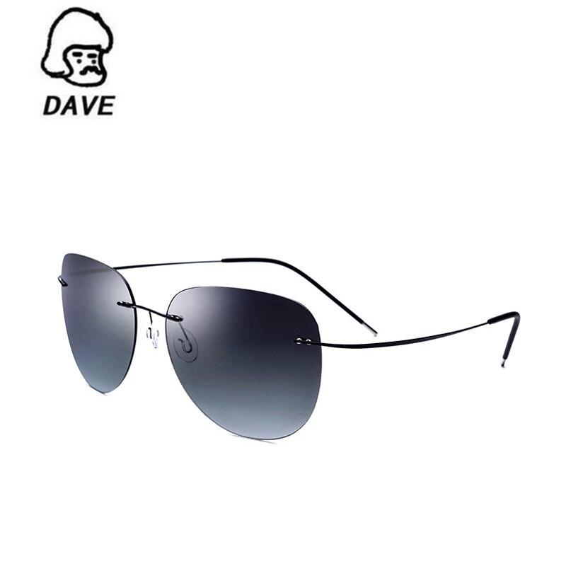 2017 Retro luxury brand designer Oval Rimless sunglasses Titanium Ultralight sunglasses for men and women Driving mirror