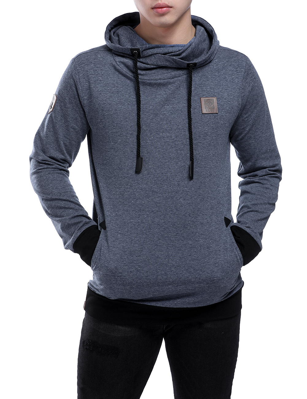 NEW 2018 Fashion Hip Hop Men Hoodies Brand casual Men hooded Casual Solid color Hoodies  ...