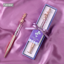 Never Mermaid Series Novelty Pens Ballpoint Pen 0.7mm Rose Gold Office Luxury Pen Gift Stationery School Student Supplies