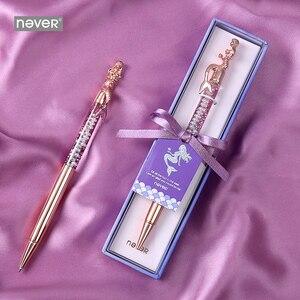 Image 1 - Never serie de sirenas bolígrafos de bola de 0,7mm, bolígrafo de lujo de oro rosa para oficina, regalo de papelería, suministros escolares para estudiantes