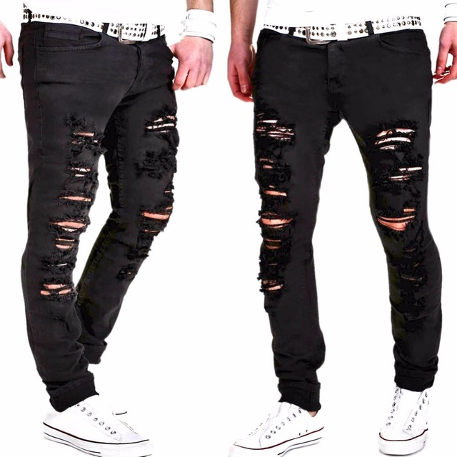 plus size vertegenwoordigen kleding designer broek zwarte mens slim denim skinny jeans mannen. Black Bedroom Furniture Sets. Home Design Ideas