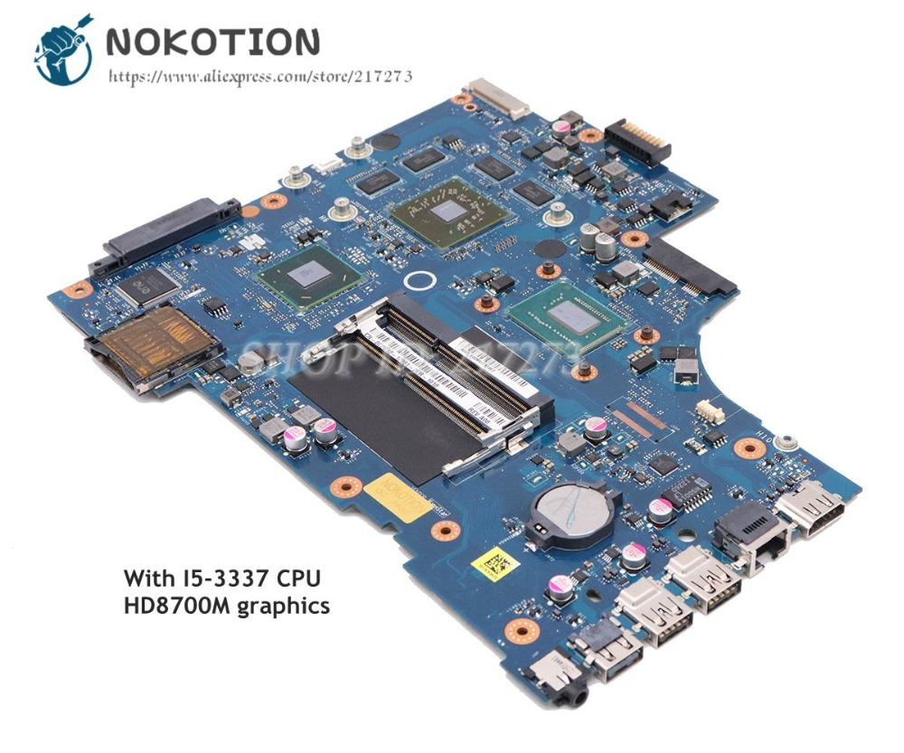 NOKOTION para Dell Inspiron 17R-5721 3721 5721 Laptop motherboard VAW11 LA-9102P CN-0C2GJ2 0C2GJ2 SR0XL I5-3337U CPU HD8700M GPU
