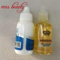38 ml peluca fantasma adhesivo líquido pegamento adhesivo Invisible con 1 botella removedor de 30 ml para peluca de encaje pegamento