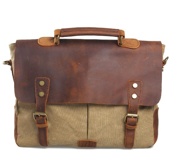 Free Shipping,Brand Casual Men Cowhide Handbag.leather Style Briefcase,quality Canvas Bag,vintage Briefcase.sales.gift