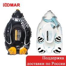 DMAR 2018 Новый Надувной Белый Медведь Пингвин Тюбинг Для Зимы Cноутьюб Санки Зимние С Ручкой Для Катания  На Горках Для Взрослых И Детей Лыжный Спорт