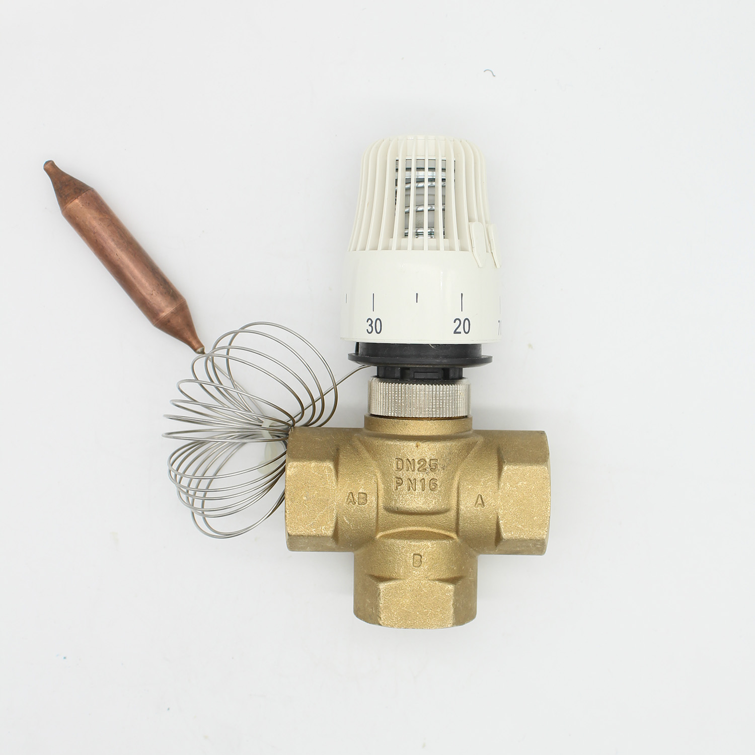 Energy saving 30 70 degree control Floor heating system thermostatic radiator valve M30*1.5 Remote controller 3 way brass valve-in Valve from Home Improvement    2