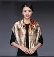 88cm 88cm Natural Silk Square Scarf For Women Handkerchief Fashion Pashmina Women S Shawl Wrap Headband