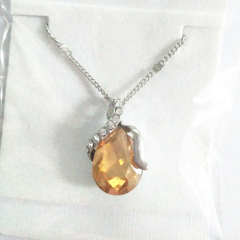 האוסטרי קריסטל טיפת המים תליון שרשרת איכות קלאסי קסם נשים תכשיטים מסיבת חתונה משלוח חינם יפה מתנה
