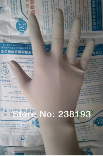 20 Pairs Individual Package Disposable Sterile Medical Gloves, Surgical Gloves, Ultra-thin Sterile Rubber Gloves.