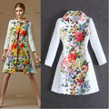 Новая Мода 2017 Горячих Женщин Элегантный Пальто Позиционирования Цветок Печати Жаккардовые Пиджаки AC-78
